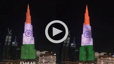 Photo of 'Stay Strong India', ভারতের তেরঙ্গায় সেজে উঠলো বিশ্বের বৃহত্তম বিল্ডিং 'Burj Khalifa', দেখুন ভিডিও