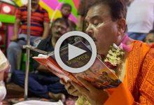 Photo of গায়ে নামাবলি জড়িয়ে চণ্ডীপাঠ, দেবীপক্ষের সূচনায় নয়া অবতারে চমক 'বং ক্রাশ' মদনের, রইল ভিডিও